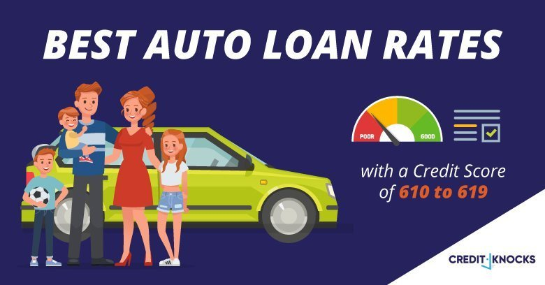 New, Used, and Refinanced Auto Loan Rates for 610 611 612 613 614 615 616 617 618 619 Credit Score