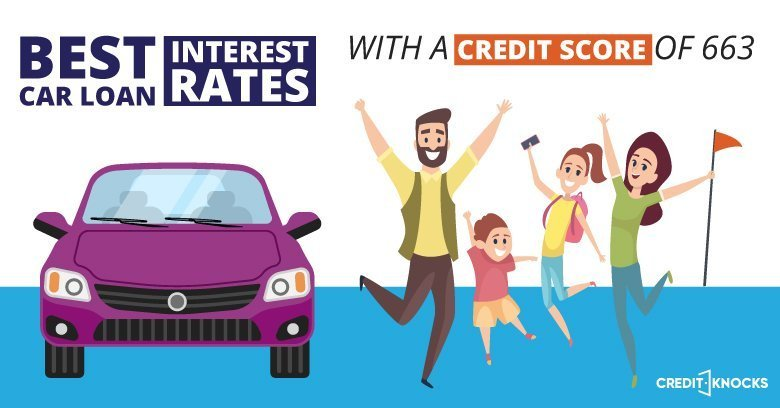 car auto loan interest rate with 663 credit score