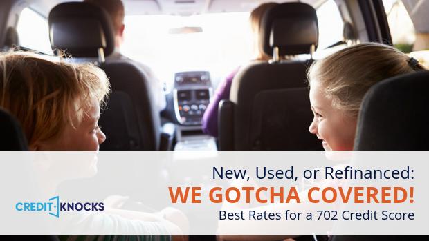 702 credit score best rates for car truck vehicle auto loans online