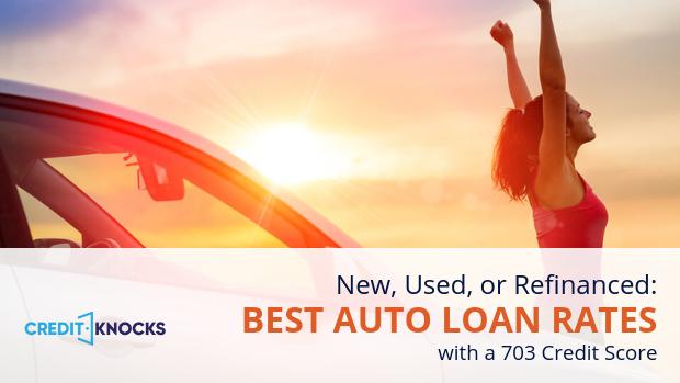 703 credit score top auto loans bank credit union online lenders