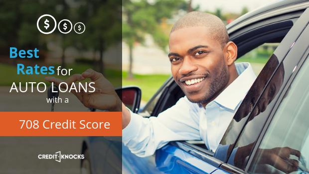 708 credit score Best Interest rates new used refinance car loan