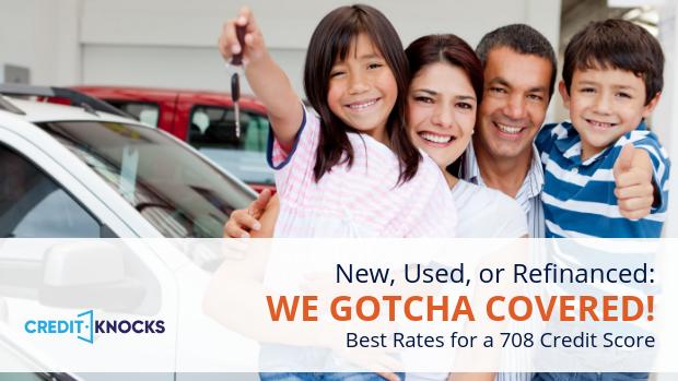 708 credit score top auto loans bank credit union online lenders