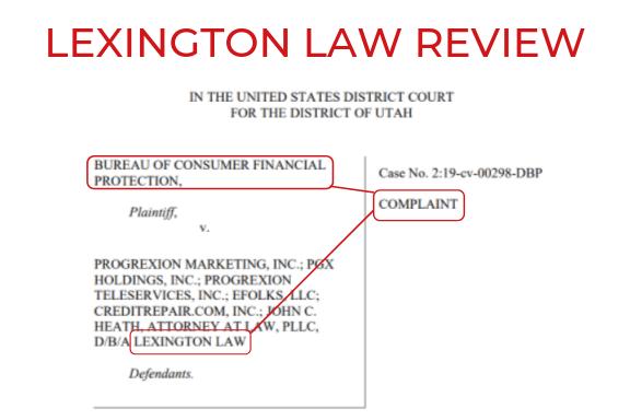 LEXINGTON LAW Firm credit repair REVIEW 2019