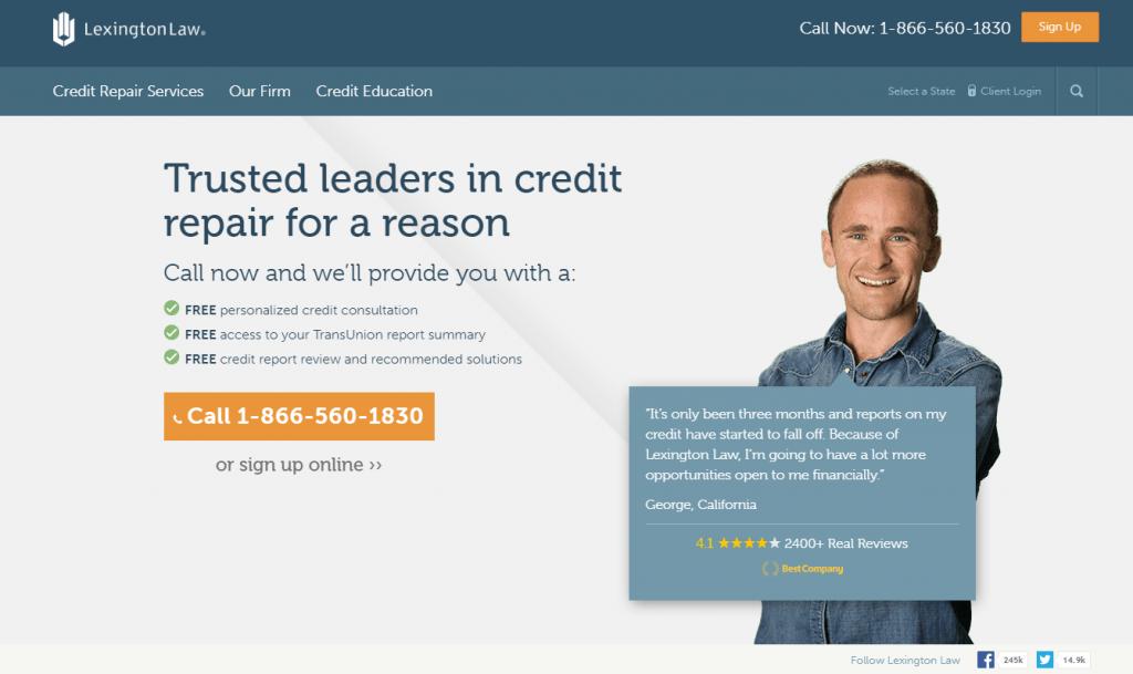 Lexington Law review credit repair service