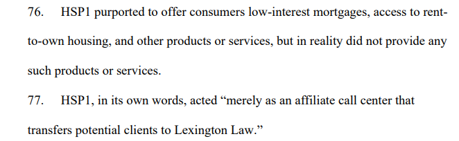 lexington law no mortages or houses for rent