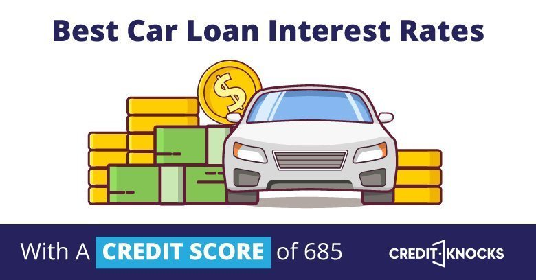 car auto loan interest rate with 685 credit score