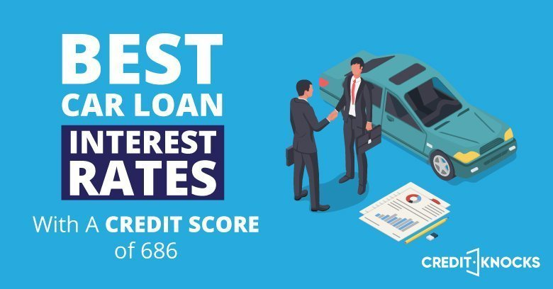 car auto loan interest rate with 686 credit score