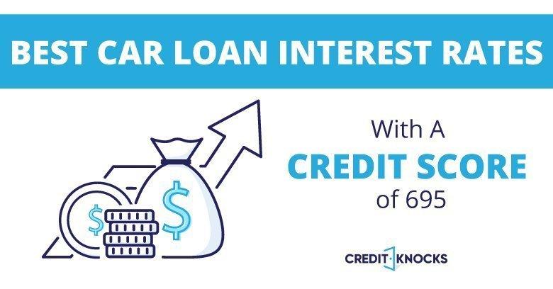 695 credit score Best Interest rates new used refinance car loan
