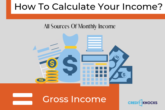 How To Calculate Your income to determine your debt to Income Ratio (DTI) for a loan or mortgage