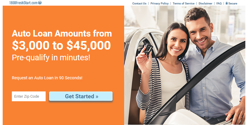 1800freshstart auto loan review