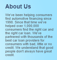 1800freshstart auto loan review about us