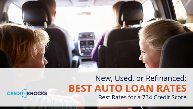 734 auto loan rate car loan interest rate with 734 credit score auto loan rate