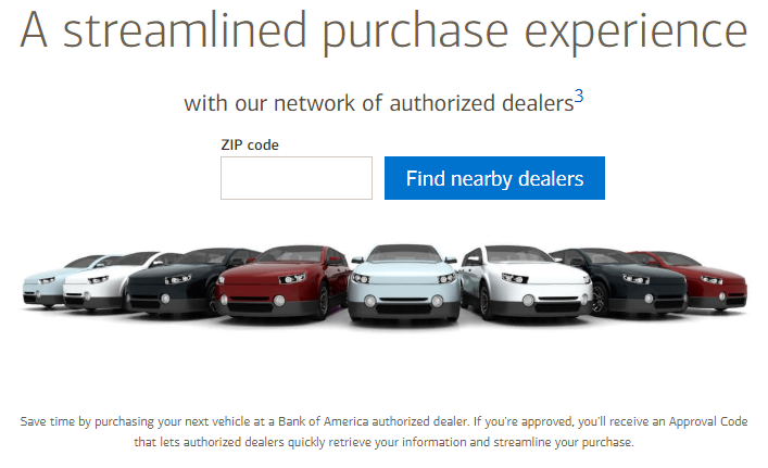 Bank of America auto loan rates boa car loan rates network of authorized dealers
