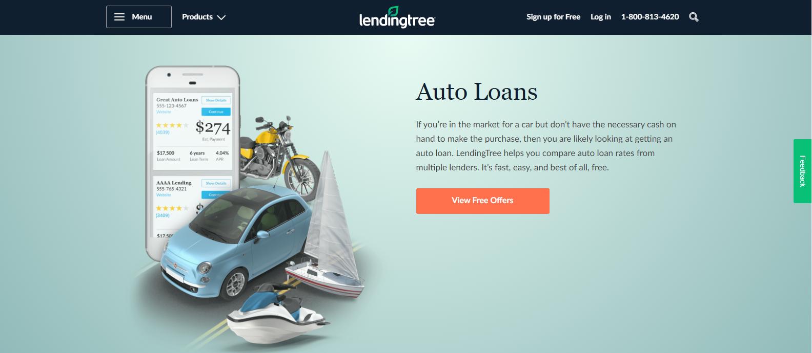 lendingtree homepage