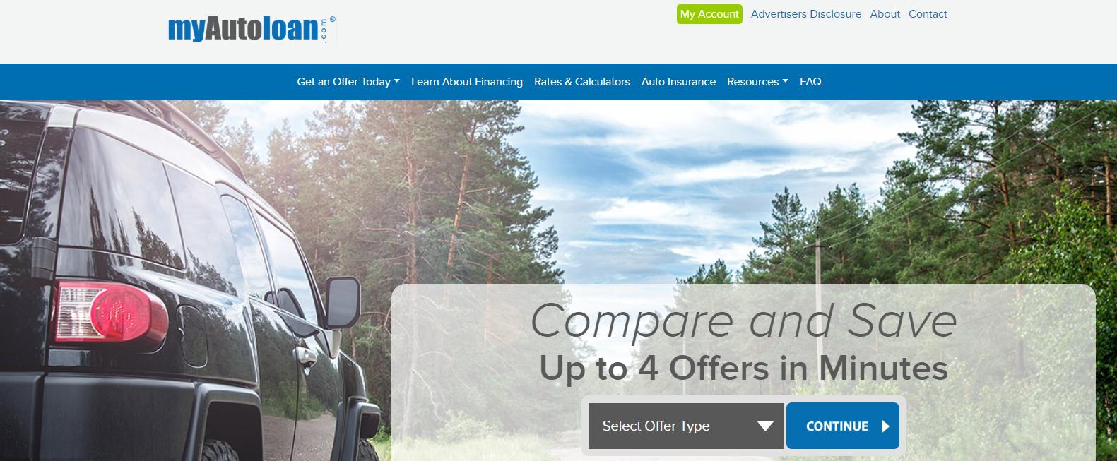myAutoloan homepage