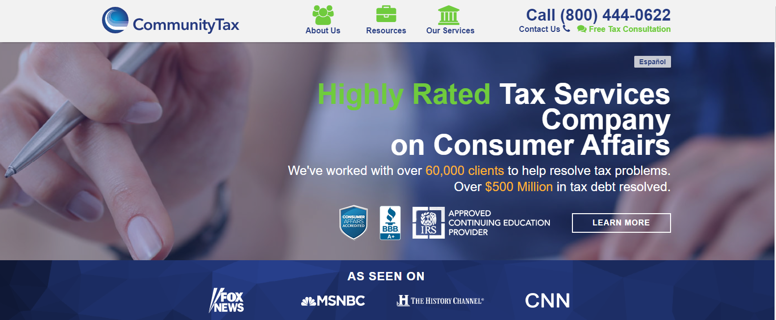 community tax home page
