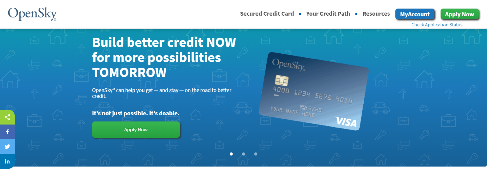 opensky home page