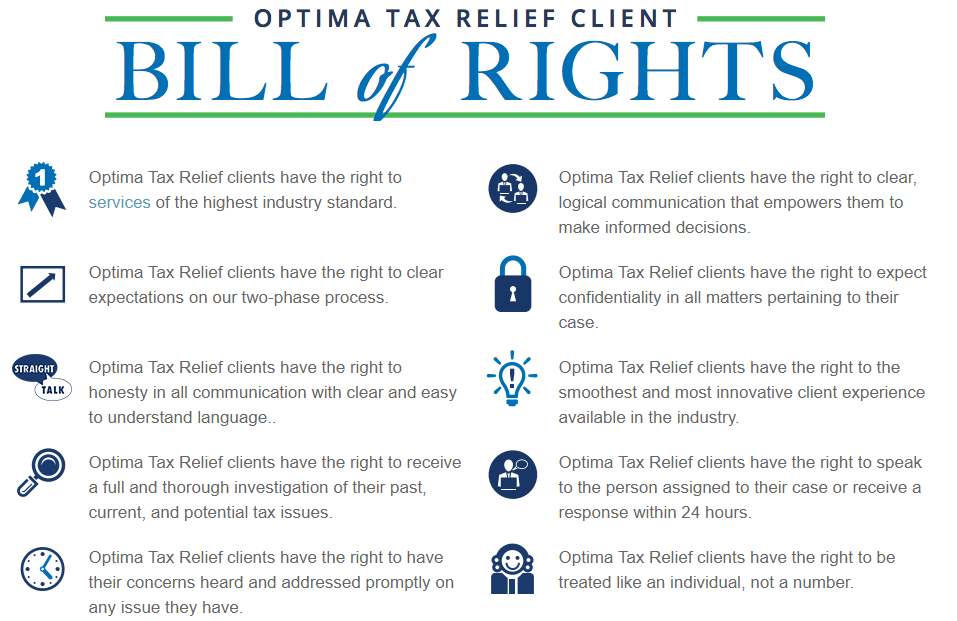 optima tax bill of rights