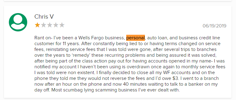 wells fargo personal loan customer complaint reviews