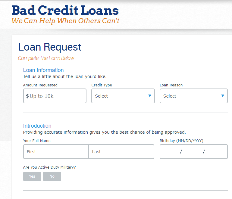 badcreditloans.com-loan-application