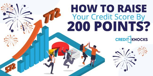 raise credit score 200 points