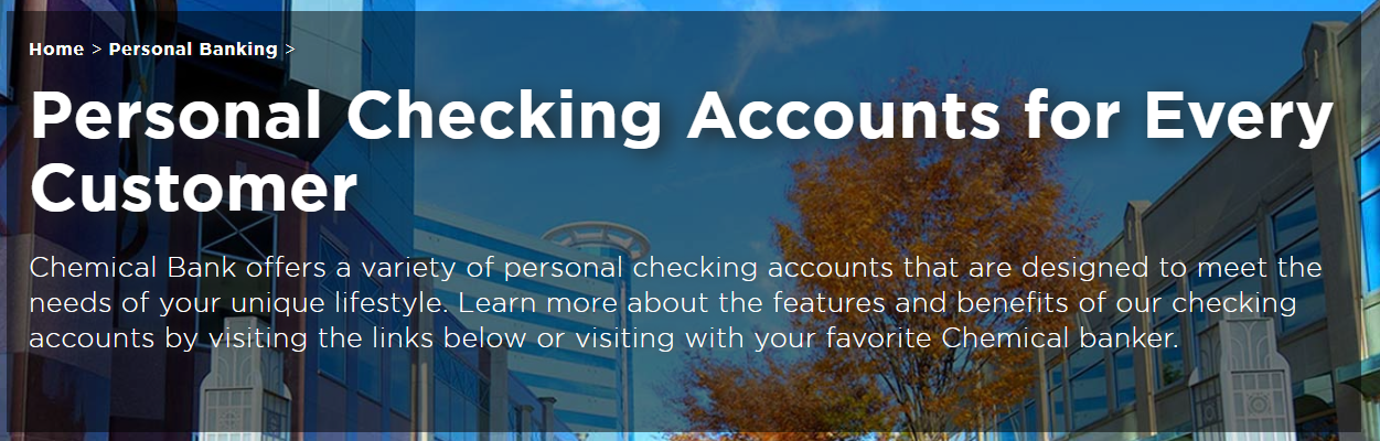 chemical bank personal checking account